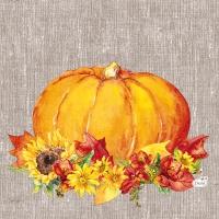 Servietten 33x33 cm - Autumn Pumpkin