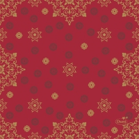 Servietten 24x24 cm - X-Mas Deco Red