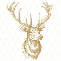 Servietten 33x33 cm - Elegantes Elchgold
