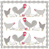 Lunch Servietten Chicken Family