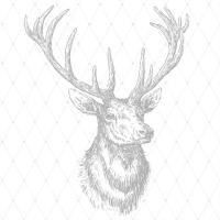 Lunch Servietten Elegant Elk silver
