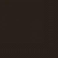 Zelltuch Servietten 33x33 cm - schwarz