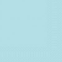 Zelltuch Servietten 33x33 cm - mint blue