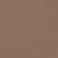 Zelltuch Servietten 33x33 cm - chestnut