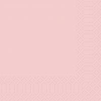 Zelltuch Servietten 33x33 cm - weiche Rose