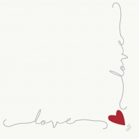 Dunisoft Servietten 40x40 cm - Love