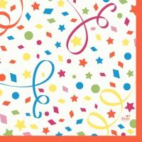 Zelltuch Servietten 33x33 cm - Confetti