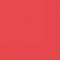 Zelltuch Servietten 33x33 cm - rot