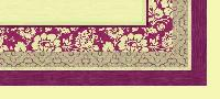 20 Mitteldecken Dunicel® 84 x 84 cm Amira bordeaux