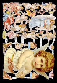 Glanzbilder - großer Engel & viele kleine Engel