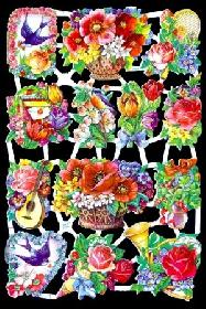 Glanzbilder - Blumen 50er Jahre