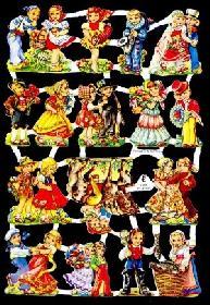 Glanzbilder - kleine Kinder  50er Jahre