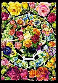 Glanzbilder - Blumenbogen in pink