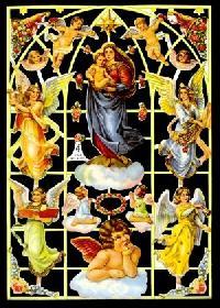 Glanzbilder - Madonna mit Jesuskind