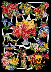 Glanzbilder Blumen 50er Jahre