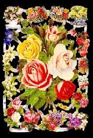 Glanzbilder - Rosenstrauß