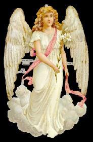Glanzbilder - large weißer Engel