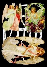 Glanzbilder - 3 verschiedene Engel