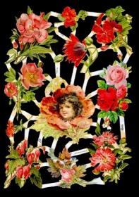 Glanzbilder - roter Blumenbogen