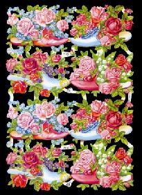 Glanzbilder - Blumenschuhe