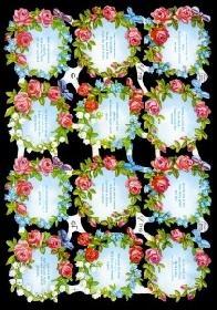 Glanzbilder - Blumen mit Sprüche