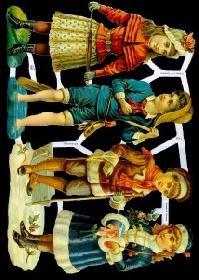 Glanzbilder - 4 Kinder quer