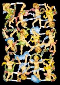 Glanzbilder mit Silber-Glimmer - 12 Engel