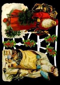 Glanzbilder - 2 Weihnachtsmänner quer