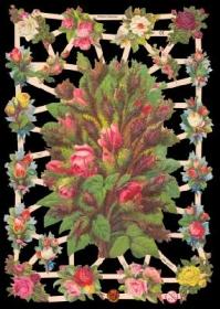 Glanzbilder mit Silber-Glimmer - Großer Blumenstrauß