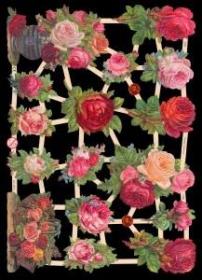 Glanzbilder mit Silber-Glimmer - Rosen, Rosensträuße