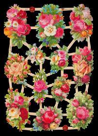 Glanzbilder helle Rosen