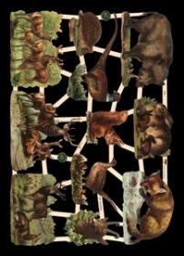 Glanzbilder wilde Tiere