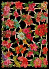 Glanzbilder mit Silber-Glimmer - 18 Sommerblumen