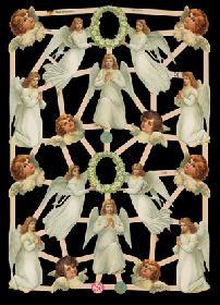 Glanzbilder - weiße Engel und Engelköpfe