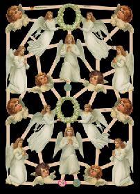 Glanzbilder mit Glimmer - Engel