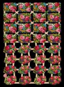 Glanzbilder mit Silber-Glimmer - 32 Blumensträuße