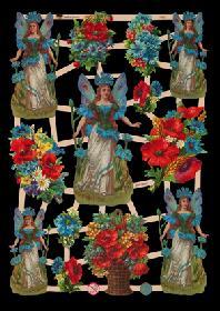 Glanzbilder - Elfen in Blumen
