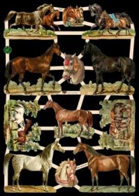 Glanzbilder mit Glimmer Pferde