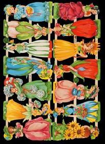 Glanzbilder - 14 Blumenkinder