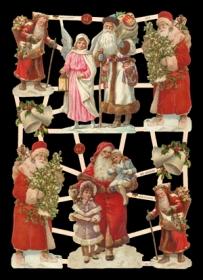 Glanzbilder Weihnachtsm?nner