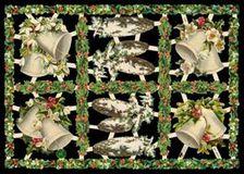Glanzbilder - 6 Weihnachtsmotive mit Glocken
