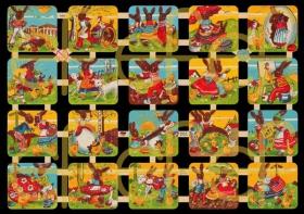 Glanzbilder mit Silber-Glimmer - 20 Osterbilder