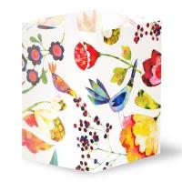 Transparentleuchten Blumen und Vögel