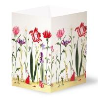 Transparentleuchten Blumengarten
