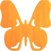 Gestanzte Servietten - Butterfly orange