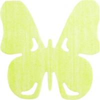 Gestanzte Servietten - Schmetterling Grün