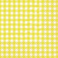 Servietten 25x25 cm - Karo yellow