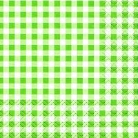 Servietten 25x25 cm - Karo grün