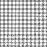 Servietten 25x25 cm - Karo grey