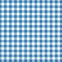 Servietten 25x25 cm - Karo blau